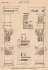 CORINTHIAN ARCHITECTURE. Base Capital and Entablature.  (Serlio & Alberti)  1931