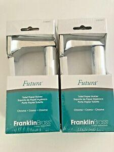 Franklin Brass Futura Toilet Paper Holder Chrome Finish Model D2408 Set of (2)