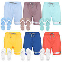 Tokyo Laundry Men's Swim Shorts & Flip Flops Set Board Surf Swimming Summer New