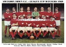 SWINDON TOWN F.C. TEAM PRINT 1969 - LEAGUE CUP WINNERS