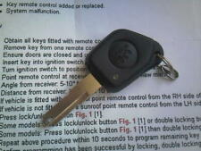 GENUINE PEUGEOT 106GTI 306 ETC (IR&LED TYPE) 1 BUTTON REMOTE UNCUT KEY FOB+CODE