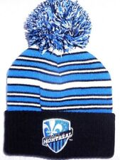 Montreal Impact Football Soccer Youth Striped Black Cuff Pom Beanie Hat Cap