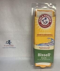 (RB) Arm Hammer Bissell 8 &14 Vacuum Filter Fragrance Free Odor Eliminate 62648F