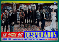 T84 Fotobusta Die Herausforderung Der Desperados Glenn Ford Randolph Scott,