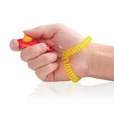 Dog Pet Cat Training Clicker Click Trainer Obedience Aid Wrist Strap Wristband