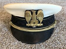 Ww2 Italian Fascist Summer White Visor Hat - Original!