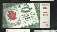 1946 Rose Bowl football ticket stub Alabama Crimson Tide v USC Trojans 22 62 5