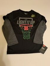 "Under Armour Boys ""Light It Up"" Basketball Holiday Christmas Shirt Size 4 NWT"