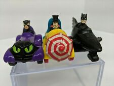1991 Batman Returns Toy Car Lot Set of 3 McDonalds Penguin Catwoman DC Comics