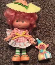 Vintage Strawberry Shortcake Peach Blush Doll with Pet Mellonie Belle Lamb Shoes