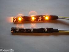 2 Stück  LEDs Strip   gelb  12 V -Wasserdicht   KFZ Beleuchtung