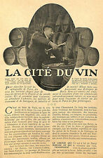 PARIS BERCY LA CITE DU VIN ARTICLE PRESSE 1908