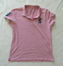 Giordano polo XXL women's pink with blue logo shirt great condition