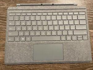 Microsoft Signature Surface Pro 5 6 7 Type Cover Alcantara Platinum Gray 1725