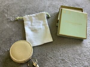 Penhaligons Small Circle Cream Leather Change/Coin Purse BRAND NEW WITH BOX