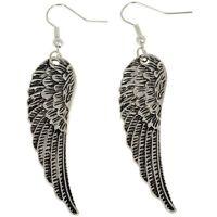 Fashion Jewelry Womens Tibet Silver Angel Wings Earrings Drop Dangle Earring yt'