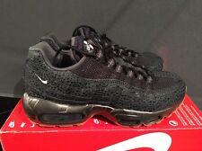 Nike Air Max 95 PRM Unisex Uk6 Triple Black Safari 807443-002