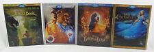 4 Disney Blu-ray/DVD Movie Lot Beauty and The Beast/Cinderella/Jungle Book Used