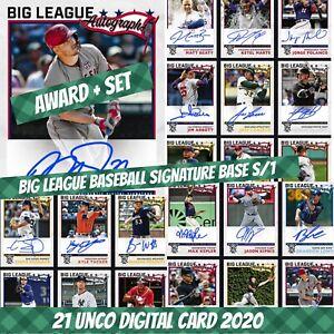 Topps Bunt Mike Trout Award Set 1+20 Big League Baseball Signature 2020 Digital