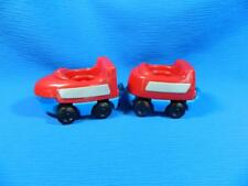 Fisher Price Little People Fun Sounds Train Cars Red Blue 2 Pc Village Town 2001