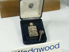 "A Wedgwood  "" Sterling Silver "" Perfume Bottle with Funnel & in Presentation Box"