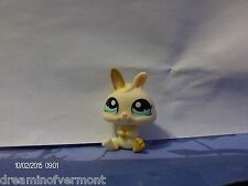 Littlest Pet Shop Dark and Light Tan Bunny with Blue/Green Eyes #1372
