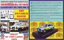 ANEXO DECAL 1/43 FORD ESCORT RS 1800 MK II ROTHMANS VATANEN 1000 LAKES 1979 (04)