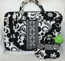 VERA BRADLEY Laptop Portfolio Case w/ strap - Night & Day Black White & Mini Bag