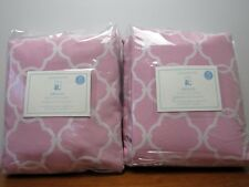 "NWT Pottery Barn Kids Abigail Blackout Drapes 44"" x 96"" Two Panels ~Pink."