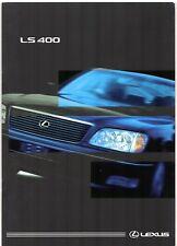 Lexus LS 400 1998-99 UK Market Sales Brochure