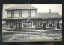 REAL PHOTO CAMPBELLFORD ONTARIO CANADA RAILROAD DEPOT STATION POSTCARD COPY