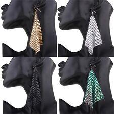 Women's Sequins Rhinestone Elegant Drop Dangle Ear Stud Earrings Jewelry Bohemia