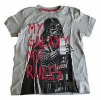 New Old Navy Star Wars Darth Vader Boys Shirt Gray LG (10-12) My Galaxy My Rules