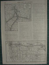 1926 MAP ~ CHICAGO GREAT WESTERN RAILROAD ~ MILWAUKEE & ST PAUL RAILWAY WESTERN