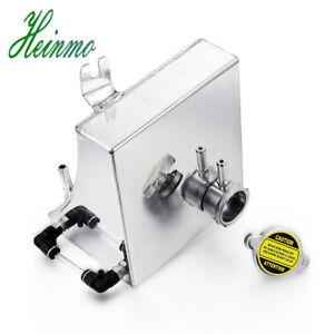 For 240SX S13 SR20DET KA24DE Aluminum Silver Coolant Overflow Tank Reservoir Kit