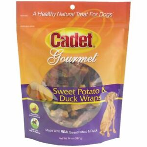 Cadet Premium Gourmet Duck and Sweet Potato Wraps Treats 14 ounces