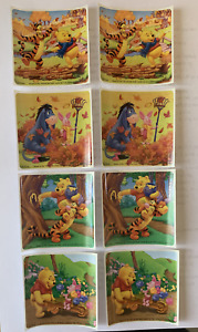 Winnie the Pooh Stickers x 8 - Birthday Party Favours Loot Stickers Eeyore Pooh
