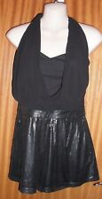 LIPSY BLACK SEQUINNED SHORTS STYLE PLAYSUIT SIZE 12 BNWT
