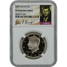 2004-S Kennedy NGC PF70 Ultra Cameo Silver Half Dollar Coin