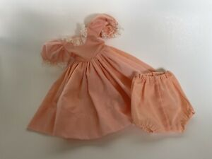 "Vintage Peach Doll Dress/Panty for 14-15"" doll, Madame Alexander, Ideal, Vogu"