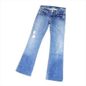 Bcbgmaxazria Jeans denim Blue Silver 25 Cotton 100% Woman Authentic Used T8249