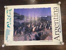 ARGENTINA 1990's Vintage Travel poster 24x33 Penguins