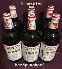 Six Mexican Vanilla Glass Bottle  La Vencedora  1-Liter