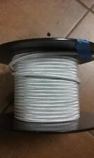 25 ft Silver Rayon Cloth Covered 2-Wire Round cord (18/2svt 105C) 300 Volts NEW