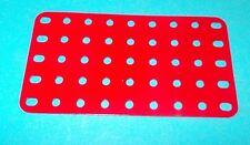 Meccano plaque rectangulaire No72 rouge