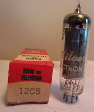 Silver Electron 12C5 Radio And Television Tube In Box NOS