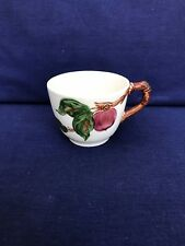1 Vintage Cup Red Apples by Franciscan China Dinnerware Stoneware Collectible