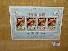ANGUILLA 80TH BIRTHDAY HM QUEEN ELIZABETH QUEEN MOTHER MINIATURE SHEET MNH 1980