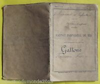 Ancien carnet de tir , SOLDAT INFANTERIE 1926