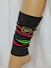 Legwarmers Leg Warmer Black Multi-Coloured Rainbow Fame One Size